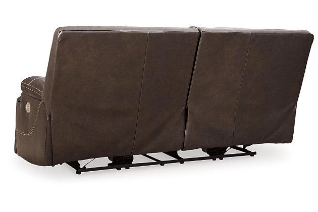 Ricmen Power Reclining Sofa, Walnut, large