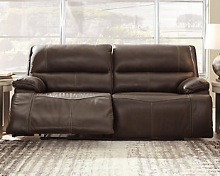 Ricmen Power Reclining Sofa, Walnut, rollover