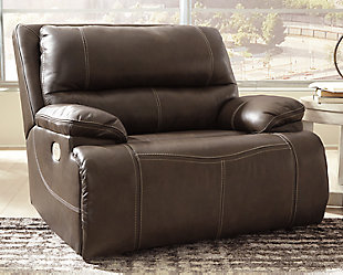 Ricmen Oversized Power Recliner, Walnut, rollover