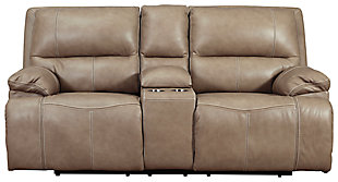 Ricmen Power Reclining Loveseat with Console, Putty, large