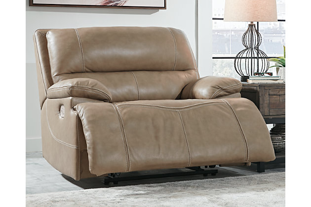 Ricmen Oversized Power Recliner, Putty, large