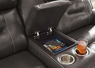 Pomellato Power Reclining Loveseat with Console, , large