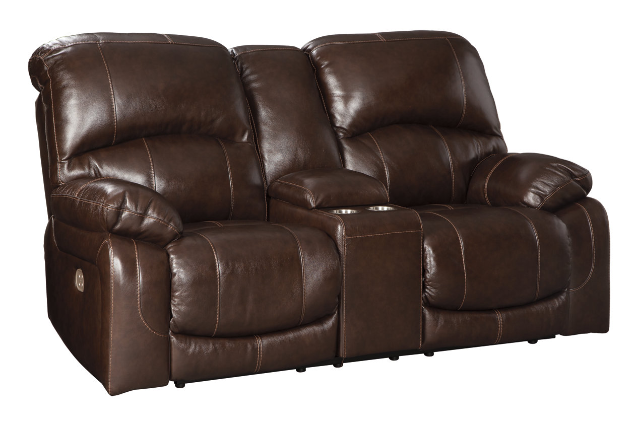 Cool Hallstrung Power Reclining Loveseat With Console Ashley Uwap Interior Chair Design Uwaporg