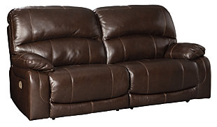 Hallstrung Power Reclining Sofa, Chocolate, large
