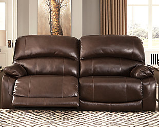 Hallstrung Power Reclining Sofa, Chocolate, rollover