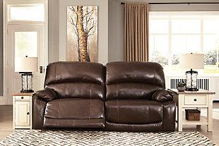 Hallstrung Power Reclining Sofa, Chocolate, large
