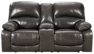 Hallstrung Power Reclining Loveseat with Console, , large