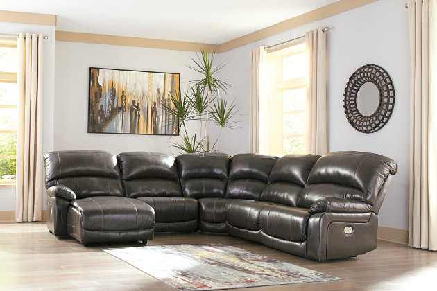 Hallstrung 5-Piece Power Reclining Sectional with Chaise, , large