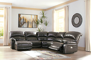 Hallstrung 5-Piece Power Reclining Sectional with Chaise, , rollover