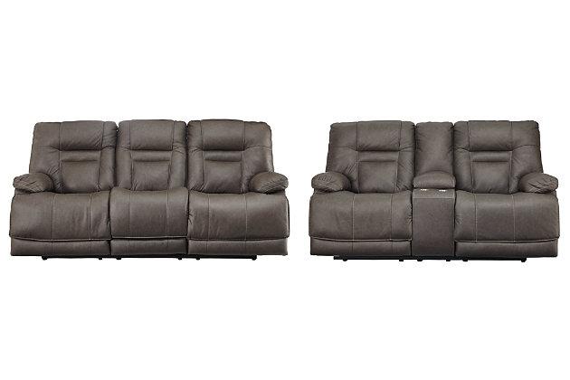 Wurstrow Sofa and Loveseat, Smoke, large