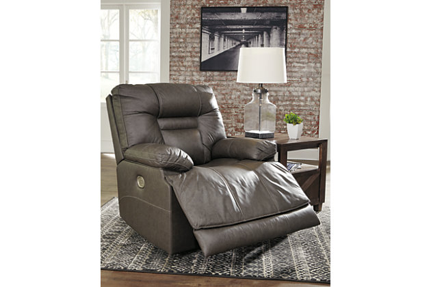Wurstrow Power Recliner, Smoke, large