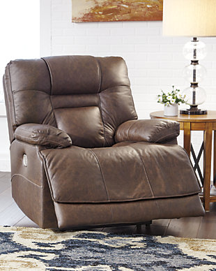 Wurstrow Power Recliner, Umber, rollover