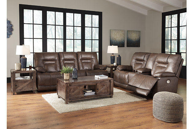 Wurstrow Sofa and Loveseat, Umber, large