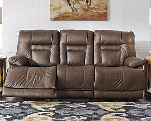 Wurstrow Power Reclining Sofa, Umber, rollover