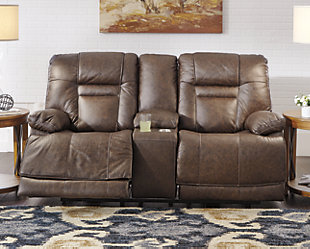 Wurstrow Power Reclining Loveseat, Umber, rollover
