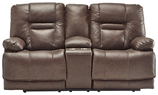 Wurstrow Power Reclining Loveseat, Umber, large