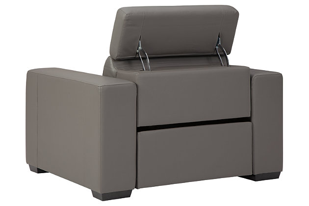 Texline Power Recliner, Gray, large