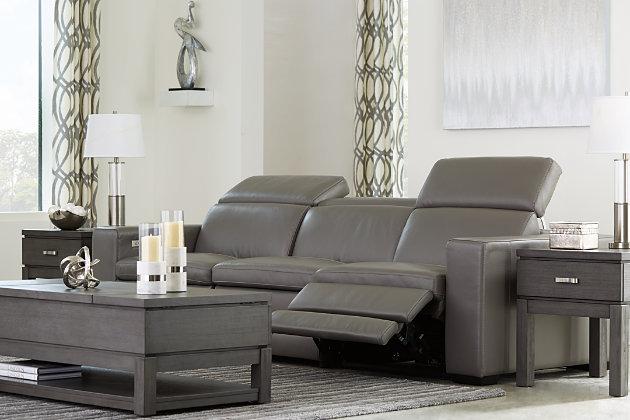 Texline 4-Piece Power Reclining Sofa, Gray, large