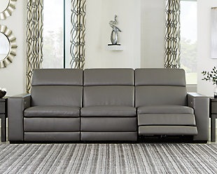 Texline 4-Piece Power Reclining Sofa, Gray, rollover