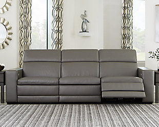 Texline 3-Piece Power Reclining Sofa, Gray, rollover