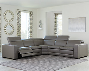 Texline 6-Piece Power Reclining Sectional, Gray, rollover