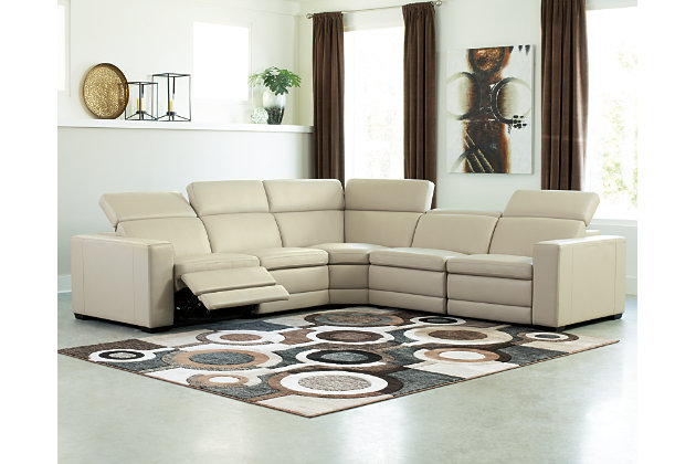 Texline 6-Piece Power Reclining Sectional, Sand, large