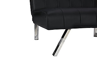 Elvia Convertible Futon, Black, large