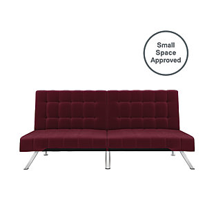 Elvia Convertible Futon, Burgundy, large