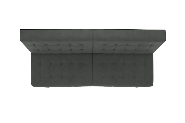 Elvia Convertible Futon, Light Gray, large