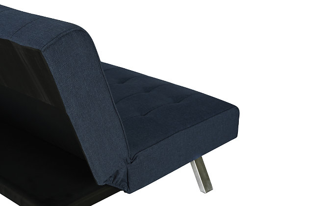 Elvia Convertible Futon, Navy, large