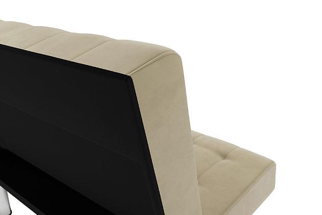 Elvia Convertible Futon, Tan, large
