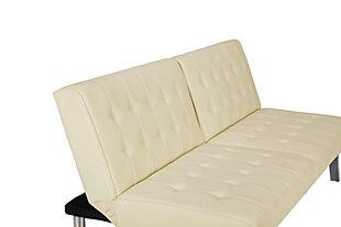 Elvia Convertible Futon, Vanilla, large