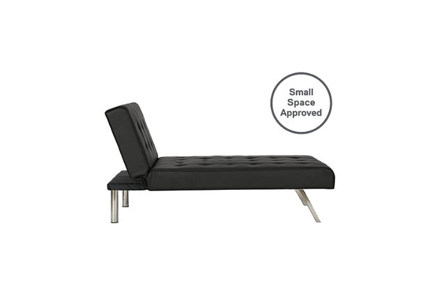 Elvia Chaise Lounger, Black, large