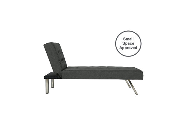 Elvia Chaise Lounger, Gray, large