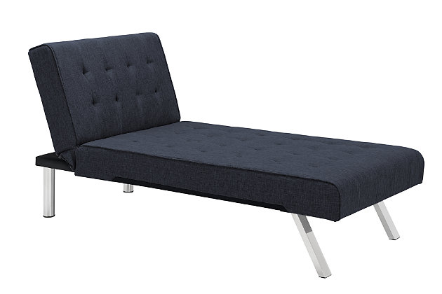 Elvia Chaise Lounger, Navy, large