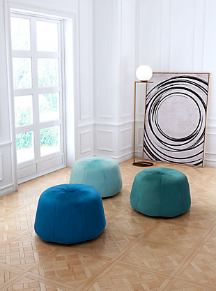 Large Dulcet Ottoman Blue Rollover
