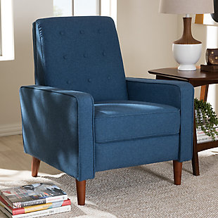 Mathias Recliner, Blue, rollover