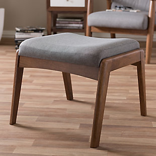 Roxy Ottoman, Walnut/Gray, rollover
