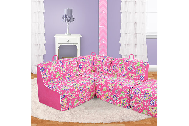 Terrific Kids 4 Piece Foam Daisy Sectional Set Ashley Furniture Pdpeps Interior Chair Design Pdpepsorg