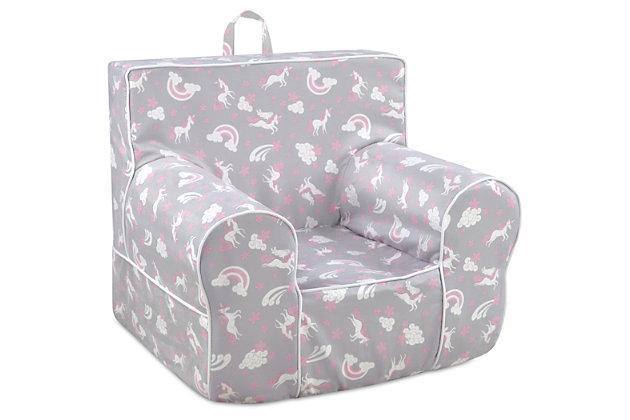 Stupendous Toddler Classic Grab N Go Unicorn Dreams Foam Chair Ashley Unemploymentrelief Wooden Chair Designs For Living Room Unemploymentrelieforg