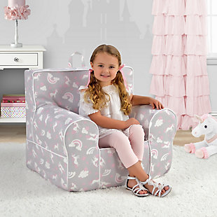 Toddler Classic Grab-n-go Unicorn Dreams Foam Chair, , rollover
