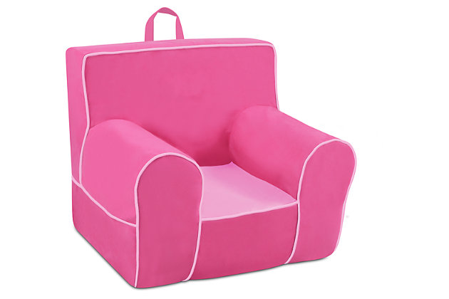 Toddler Classic Grab-n-go Passion Pink Foam Chair, , large