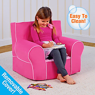 Toddler Classic Grab-n-go Passion Pink Foam Chair, , rollover