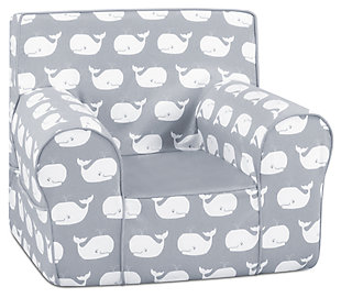 Toddler Classic Grab-n-go Whale Tales Foam Chair, , large