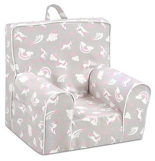 Toddler Classic Grab-n-go Unicorn Dreams Foam Chair, , large