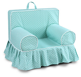 Toddler Addison Skirted Grab-n-go Mini Dot Canal Foam Chair, , large