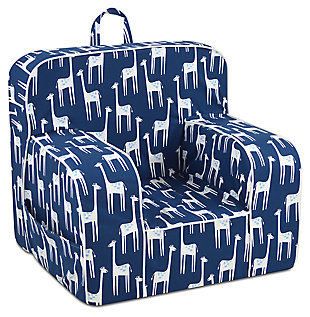 Toddler Addison Skirted Grab-n-go Patches Sky Foam Chair, , large