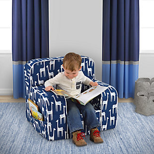 Toddler Addison Skirted Grab-n-go Patches Sky Foam Chair, , rollover
