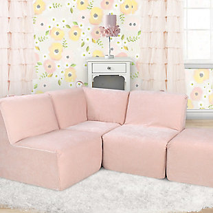 Kids 2 Piece Zamora Blush Foam Chairs, , rollover