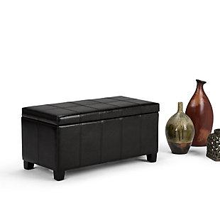 Ottoman Storage Ottoman, Midnight Black, rollover